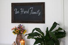 Wood Chalkboard Sign by HurdandHoney