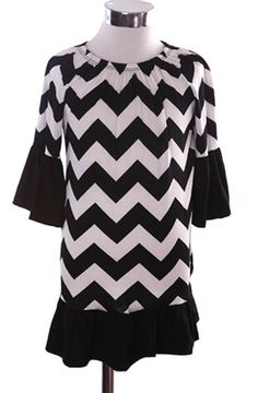 Black And White Chevron Girls Ruffle Dress – Cupcakes and Cheer Boutique