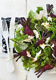 Honey baked beetroot salad with wholegrain mustard