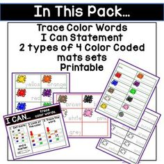 color words activity pack