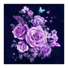 "Diamond Painting ""Lila Blumen"""