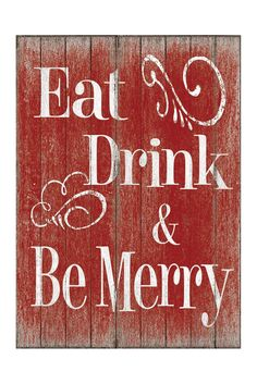 Eat Drink & Be Merry Sign - Large Sponsored by Nordstrom Rack.