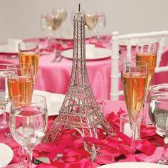 Paris Themed Centerpiece
