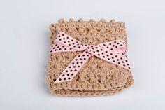 Washcloth Scrubbie Crochet Cotton Spa by GwensHomemadeGifts, $7.50