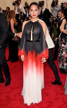 Olivia Munn from 2015 Met Gala Arrivals  In J. Mendel
