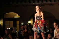 Recycled dress from Earth Day fashion show at Monte de Oro Winery in Temecula