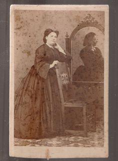 CDV  Ritratto di gentildonna by Angiolini Bologna-1787
