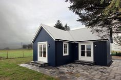 A small traditionally-styled Scottish house by modular builder The Wee House Company. This model has one bedroom in 431 sq ft.   www.facebook.com/SmallHouseBliss