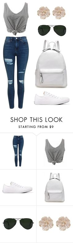 Untitled #212 by jasmine-abdallah on Polyvore featuring Topshop, Converse, Ray-Ban and River Island