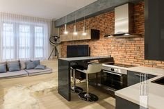 Квартира в Москве 47,00 кв.м • loft interior • Лофт • квартира-студия