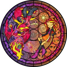 Stained Glass: Live This Down by Akili-Amethyst.deviantart.com on @DeviantArt