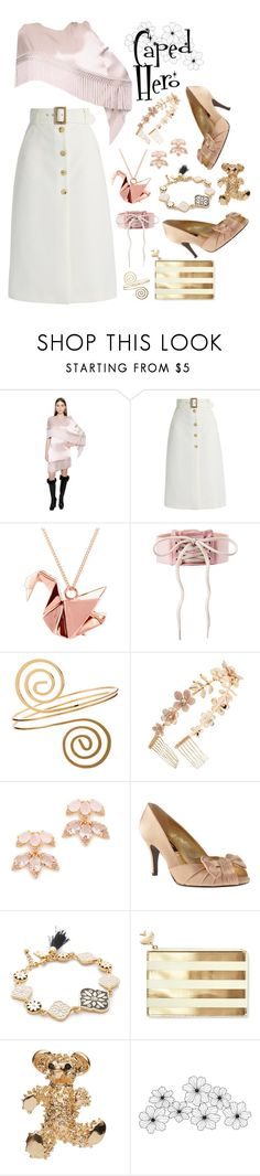 """""""The World Needs More Capes :'("""" by dizzier ❤ liked on Polyvore featuring Andrew Gn, Bella Freud, Origami Jewellery, Berry, Kate Spade, Nina, John Lewis and WALL"""