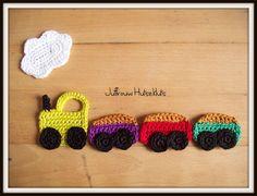 haken, applicatie, trein, gratis haakpatroon Crochet Accessories, Crochet Toys, Crochet Projects, Crochet Earrings, Crochet Patterns, Blanket, Knitting, Blog, Kids