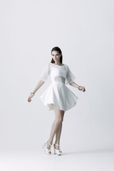 Swing your sense of dance while the dress is moving. It looks naturally beauty in every move. You definitely feel comfortable whenever you wear it. Very sensitive touching material. Suit for a naughty angel with sweet and sexy attitude. #fashion #fashiondesign #fashiondesigner #Thaidesigner #readytowear #aw2014 #MUETTA #Thailand