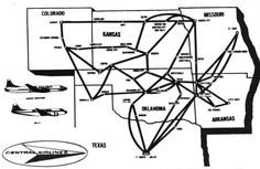 Central Airlines route map