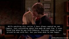 """""""While watching this series I have always wanted my own Cappie. Just  everything about him made me want him. I even loved him when he was with  Rebecca. Everyone seems to get pissed he was with her, but you know  what he was happy."""""""