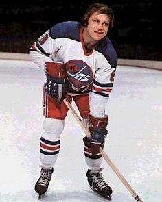 Bobby Hull of the WHA Winnipeg Jets, 1972