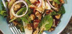 Salade verte aux pommes, noix, bacon et érable Recettes | Ricardo