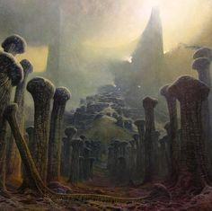 Visions of Hell series by murdered Polish painter Zdzisław Beksiński (1929-2005).
