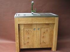pippy oak freestanding sink unit