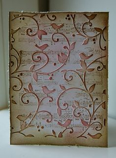 I like how they stamped a background before doing the embossing!