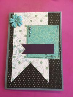 Scrapbooking card grattis