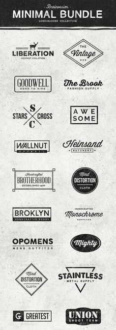 Minimal Logo/Badges Bundle - 1