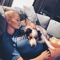 """Zoe-Lee Wood ✨ on Instagram: """"Do you think dogs know when your pregnant? @aussie_may has been laying on my tummy lately and has been extra protective 🐾❤️"""" Zoe Lee, Thinking Of You, Wood, Instagram, Thinking About You, Woodwind Instrument, Timber Wood, Trees"""