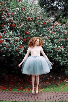 Tulle skirt for bridesmaid dresses inspo.