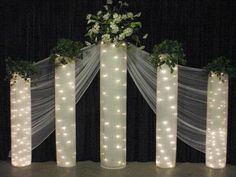 Backdrops for weddings receptions | Wedding Backdrops, backgrounds, decorations, columns.