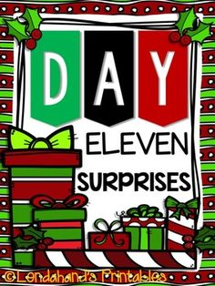 Christmas Freebie #11 from Lendahand's Printables It's a SuRpRiSe!Just 1 more to go tomorrow!Hugs!MichelleRemember I HEART RTI THURSDAYS Starts this WEEK!