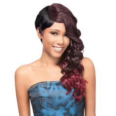 Outre Synthetic Half Wig Quick Weave Complete Cap Sassy Cut (futura)