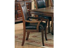 Westminister Brown & Cherry Arm Chair (Set of 2)