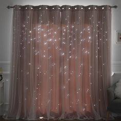 Efird Tulle Overlay Star Cut Out Blackout Thermal Grommet Curtain Panel – Curtains Cute Bedroom Ideas, Cute Room Decor, Room Ideas Bedroom, Bed Room, Bedroom Furniture, Bedroom Designs, Bedroom Kids, Bedroom Decor Lights, Diy Bedroom