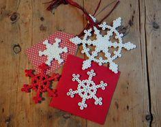 Christmas hama bead snowflakes ornaments