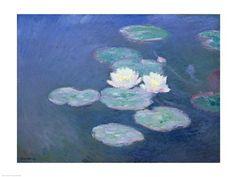 Claude Monet - Waterlilies, evening