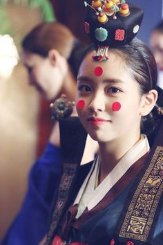 Lace dress 2016 olympic republic of korea Korean Traditional Clothes, Traditional Fashion, Traditional Wedding, Traditional Dresses, Korean Wedding Makeup, Hanbok Wedding, Korean Bride, Kim Sohyun, Korea Dress