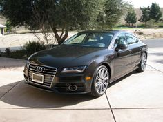 The gorgeous Audi A7 in our driveway.