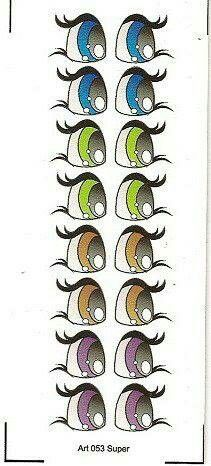 eye charts for the cutest eyes for figures