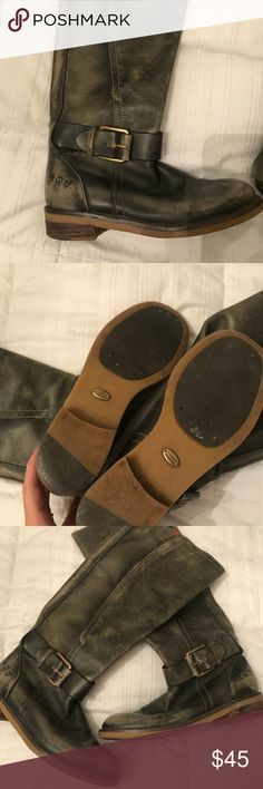 Lucky brand leather distressed boots These are super cute distressed style lucky brand women's boots to the knee size 6 Lucky Brand Shoes Over the Knee Boots