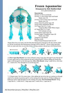 Come and enjoy our pattern packed issue! Earrings, ornaments, pendants, and more! RitzyToo covers Beading/Jewelry making, Soap making, and Fiber Arts for complete craft coverage.