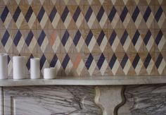 Moonish wall tiles are made of silkscreened marine grade plywood, which is water resistant.