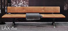beautiful leather bench from [more] www.more-mobel.de Lax Bank.  #dining #bench