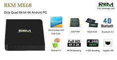 Rikomagic RK3368 Octa core 8 çekirdek 64 bit Android 5.1 TV Box 2GB RAM 16GB ROM Dual