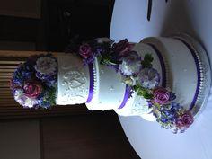 Erica's purple and lavender wedding cake!