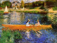 Renoir, The Seine at Asniéres, 1879, renoir tabloları, renoir kimdir, ressam renoir ve tabloları, empresyonizm