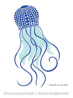 So Fab!!! Jellyfish - Giclee Print by Funnelcloud Studio