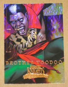 Marvel Masterpieces Set 3 (UDC 2008) Knights Chase Card MK 2 Brother Voodoo EX