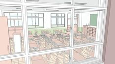 Background Ideas, School Projects, Decoration, Floor Plans, Sketch, Wallpaper, Anime Scenery, Dibujo, Decor