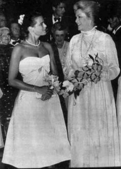 Princess Grace and daughter  Princess Stephanie are seen in photo made on July 13, 1982, at Red Cross Ball.  Sadly, this was Princess Grace's last Red Cross Gala. It was also Princess Stephanie's first Red Cross Gala.
